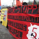 Transparent von REVOLUTION und Arbeitermacht bei der Anti-AKW-Demo in Köln am 26. März 2011