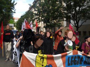 Von REOLUTION mitorganisierter Protestzug von Schüler_innen durch Pankow