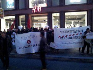 H&M Blockade im EInzelhandelsstreik