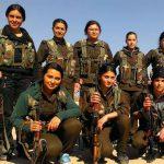 Weibliche Kämpferinnen stellen einen großen Teil der Selbstverteidigungstruppen der Kurd*innen  Quelle: https://33.media.tumblr.com/07f571bb1c9f231eb3a10722855f0f8b/tumblr_napm92N41J1tb16pso1_500.jpg